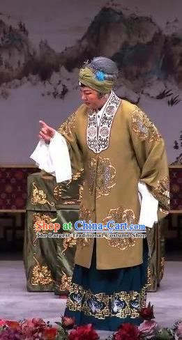 Chinese Traditional Peking Opera Old Dame Apparels Costumes Matchmaker Elderly Female Dress Garment and Headwear