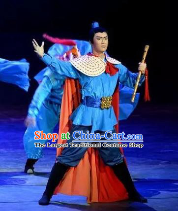 The Love of Maritime Silk Road Chinese Yue Opera Young Male Costumes and Headwear Shaoxing Opera Wusheng Garment Martial Man Apparels