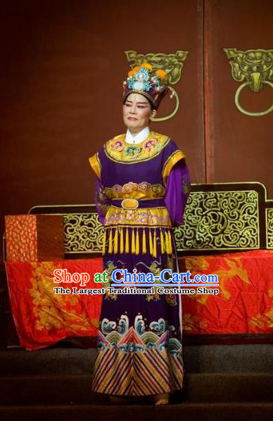 Chinese Yue Opera Elderly Male The Number One Scholar Is Not Love Garment Clothing and Headwear Shaoxing Opera Eunuch Costumes Apparels