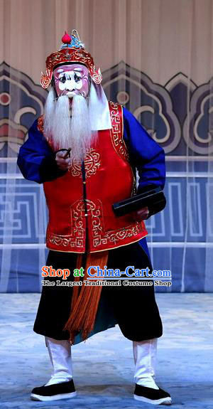 Mrs Anguo Chinese Peking Opera Laosheng Garment Costumes and Headwear Beijing Opera Old Soldier Apparels Clothing