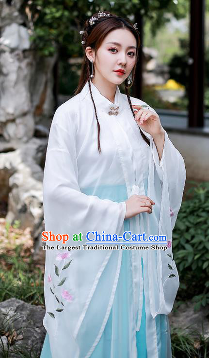 Chinese Traditional Ancient Young Lady Apparels Ming Dynasty Hanfu Dress Civilian Female Historical Costumes