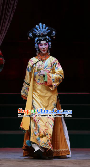 Chinese Beijing Opera Imperial Consort Shu Apparels Costumes and Headpieces Kangxi Dadi Traditional Peking Opera Noble Female Dress Garment
