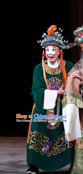 Luo Yang Gong Chinese Peking Opera Eunuch Garment Costumes and Headwear Beijing Opera Apparels Figurant Clothing
