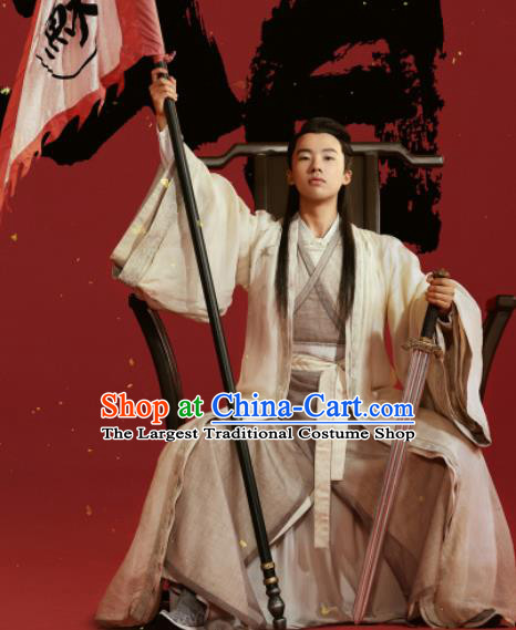 China Ancient Young Scholar Costumes Traditional History Drama Ming Dynasty Childe Clothing Full Set